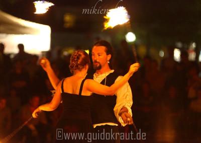 Partnerpoi bei der Feuershow vom Haaner Sommer 2015