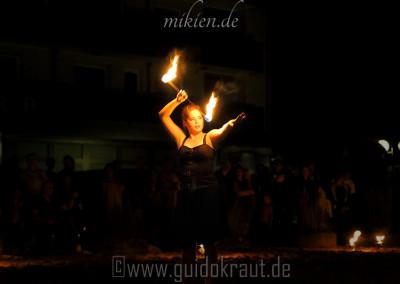 Sandina bei der Feuershow vom HaSo 2015