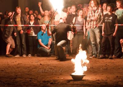 Feuerspucker bei der Jubiläum Feuershow Hadiko Sommerfest 2012