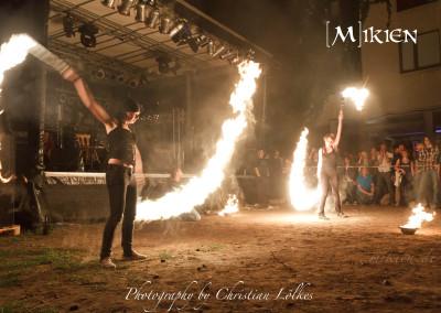 Jubiläum Feuershow Hadiko Sommerfest 2012