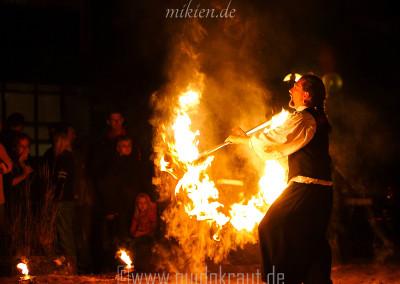 Mikien - Finale Feuershow beim Haaner Sommer 2015