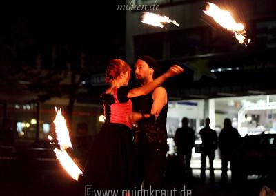 Partnerpoi bei der Feuershow vom Haaner Sommer 2011