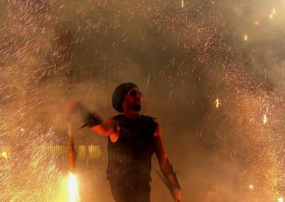 Mikien Finale der Feuershow vom Haaner Sommer 2011