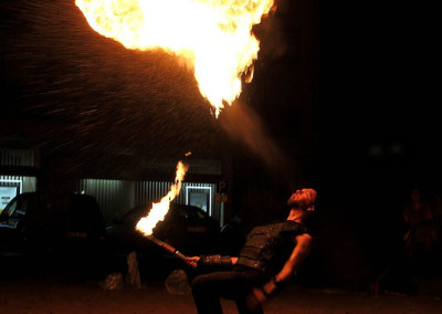 Feuerspucker beim Haaner Sommer 2011