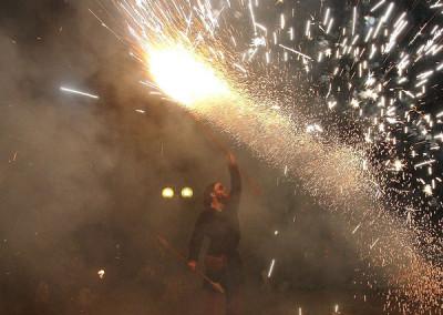 Fireclown Finale der Feuershow vom Haaner Sommer 2011