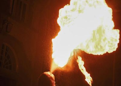 Feuershow für eine Hochzeit in Philippsburg