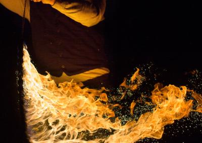 Mikiens magisches Feuer - Mittelalterlicher Weihnachtsmarkt Durlach 2015