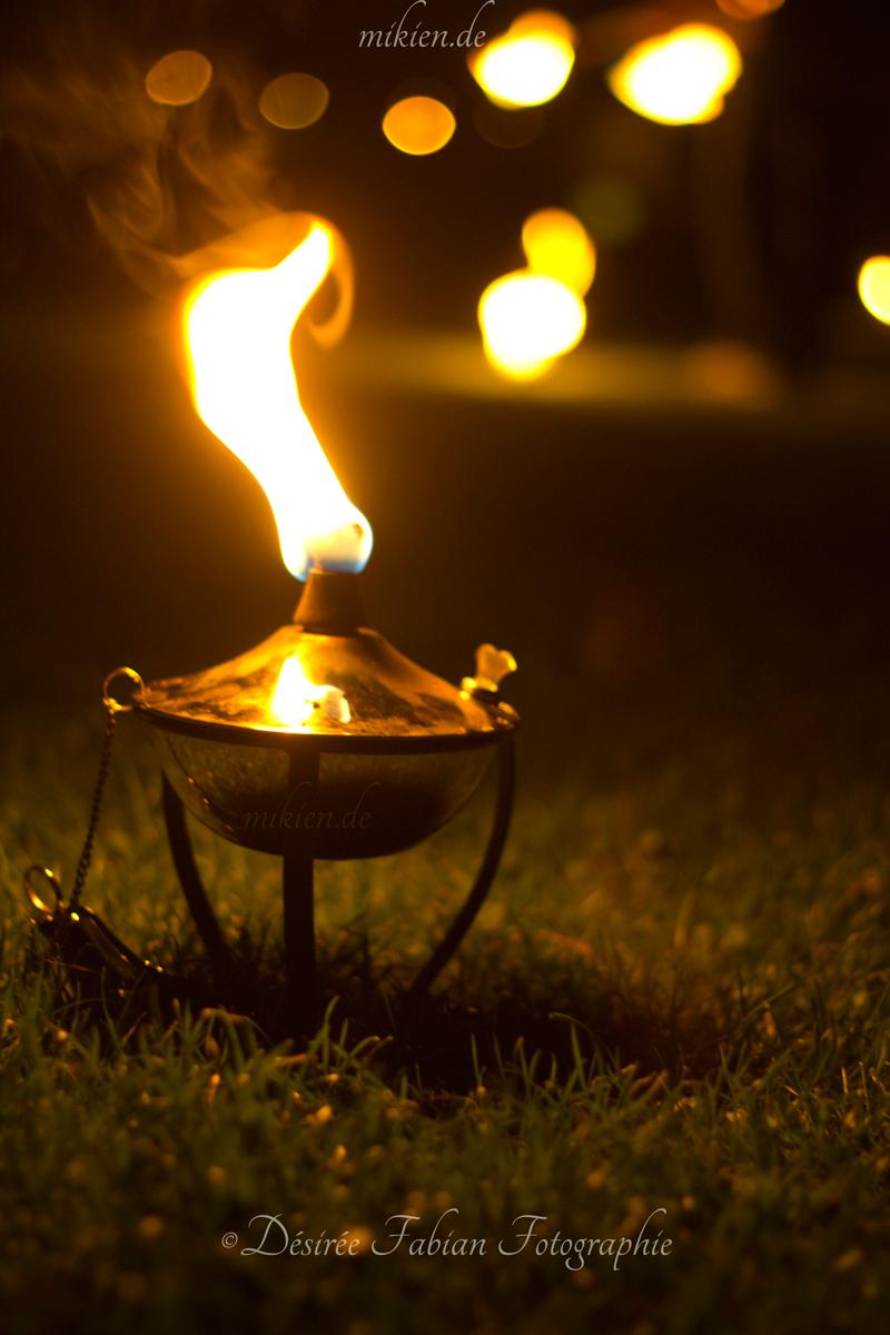 Feuerlampe für die Stimmung beim Kapyff